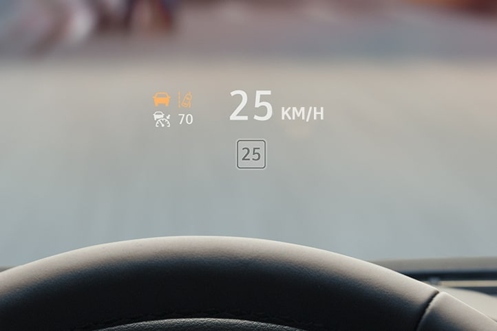 Head Up Display en cristal del conductor a color